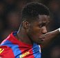 Wilfried Zaha of Crystal Palace takes on Lee Cattermole of Sunderland   during the Barclays Premier League match between Crystal Palace and Sunderland  played at Selhurst Park , London on 23 November 2015