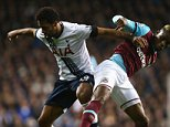 LONDON, ENGLAND - NOVEMBER 22:  Diafra Sakho of West Ham United is challenged by Mousa Dembele of Tottenham Hotspur during the Barclays Premier League match between Tottenham Hotspur and West Ham United at White Hart Lane on November 22, 2015 in London, England.  (Photo by Clive Rose/Getty Images)