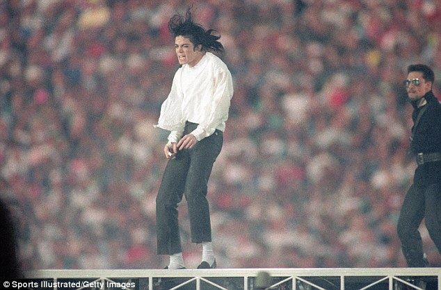The King: Michael Jackson performed the halftime show during the Cowboys first victory over the Buffalo Bills in Super Bowl XXVII