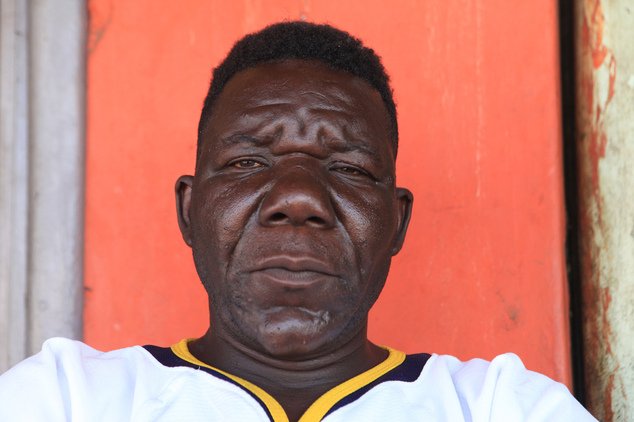 FILE -In this Nov. 13, 2015 file photo, Zimbabwe's three-times Mr Ugly winner William Masvinu poses for a photo in Harare. Pageant judges have crowned a new ...
