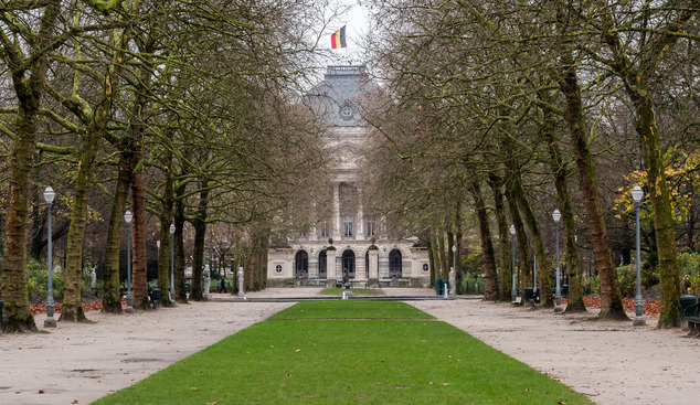 A view of the Royal Park in Brussels,  Sunday, Nov. 22, 2015. Western leaders stepped up the rhetoric against the Islamic State group on Sunday as residents ...