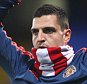 Vito Mannone of Sunderland warms up with Sunderland scarf covering his face   during the Barclays Premier League match between Crystal Palace and Sunderland  played at Selhurst Park , London on 23 November 2015