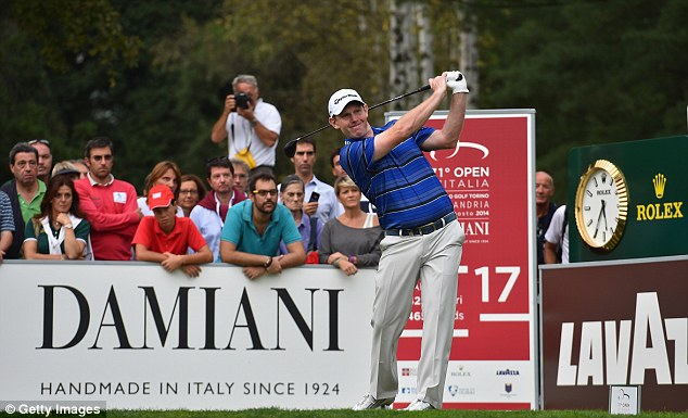 Tough task: Gallacher needs a top-two finish at the Italian Open this weekend for an automatic Ryder Cup spot