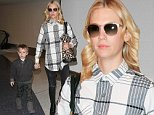 January Jones and Xander Jones are seen at LAX in Los Angeles, California.\n\nPictured: January Jones, Xander Jones\nRef: SPL1183732  231115  \nPicture by: GVK/Bauergriffin.com\n\n