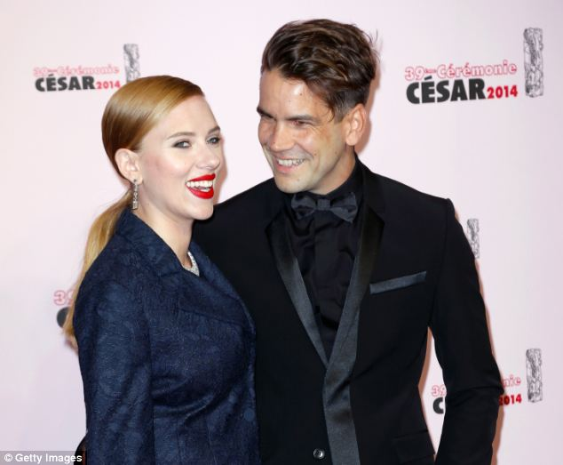 Scarlett Johansson, 29, is believed to be carrying her first child with fiancé Romain Dauriac, 31