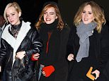24 Nov 2015 - NEW YORK - USA  ADELE, JENNIFER LAWRENCE AND EMMA STONE OUT FOR DINNER AAT COSME RESTAURANT IN NYC   BYLINE MUST READ : XPOSUREPHOTOS.COM  ***UK CLIENTS - PICTURES CONTAINING CHILDREN PLEASE PIXELATE FACE PRIOR TO PUBLICATION ***  **UK CLIENTS MUST CALL PRIOR TO TV OR ONLINE USAGE PLEASE TELEPHONE  44 208 344 2007 ***