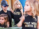 """UK CLIENTS MUST CREDIT: AKM-GSI ONLY\nEXCLUSIVE:  Kourtney Kardashian shows off her flat stomach while spending time with Penelope and Mason at the turtle pond after they just went and watched the Peanuts Movie without Scott. Penelope wears an adorable """"What Would North Do?"""" shirt.\n\nPictured: Kourtney Kardashian\nRef: SPL1183208  221115   EXCLUSIVE\nPicture by: AKM-GSI / Splash News\n\n"""