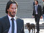 Picture Shows: Keanu Reeves  November 23, 2015\n \n A beat-up, bruised and bloody Keanu Reeves walk alongside a pitbull on the set of 'John Wick 2', which is currently filming in Manhattan's Central Park in New York City, New York.\n \n Keanu, dressed in a suit, was also seen being followed by an actor dressed in an intimidating mime costume while filming the scene.\n \n Non Exclusive\n UK RIGHTS ONLY\n \n Pictures by : FameFlynet UK © 2015\n Tel : +44 (0)20 3551 5049\n Email : info@fameflynet.uk.com