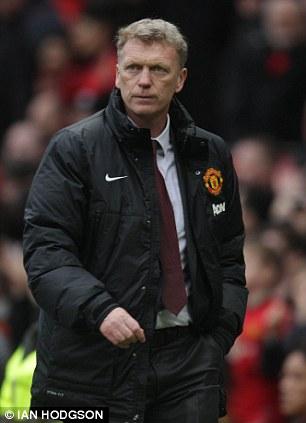 Bad day: Manchester United manager David Moyes
