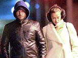 November 23, 2015: Bradley Cooper and his girlfriend Irina Shayk are pictured together holding hands while out for dinner in the West village section of New York City tonight. Mandatory Credit: Elder Ordonez/INFphoto.com Ref: infusny-160