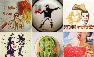 Crumbs! Is that a Banksy? Artist trades her palette for a plate to create captivating