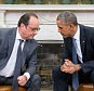 President Barack Obama meets with President Francois Hollande of France in the Oval Office of the White House in Washington, Tuesday, Nov. 24, 2015. Hollande's visit to Washington is part of a diplomatic offensive to get the international community to bolster the campaign against the Islamic State militants. ({credit} Photo/{photog})