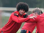 Manchester United's Marouane Fellaini during a training session at Carrington Training Ground, Manchester. PRESS ASSOCIATION Photo. Picture date: Tuesday October 20, 2015. See PA story SOCCER Man Utd. Photo credit should read: Peter Byrne/PA Wire.