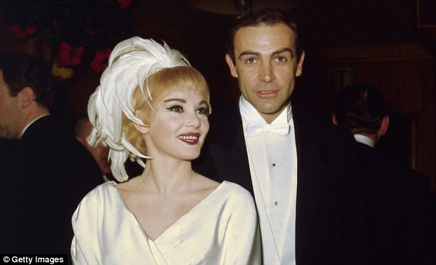 Superstar:Connery, who was 35 and famous for playing James Bond, was married to actress Diane Cilento 9above) at the time