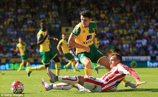 Stoke manager Mark Hughes admits that there is more to come from the 23-year-old winger (right)