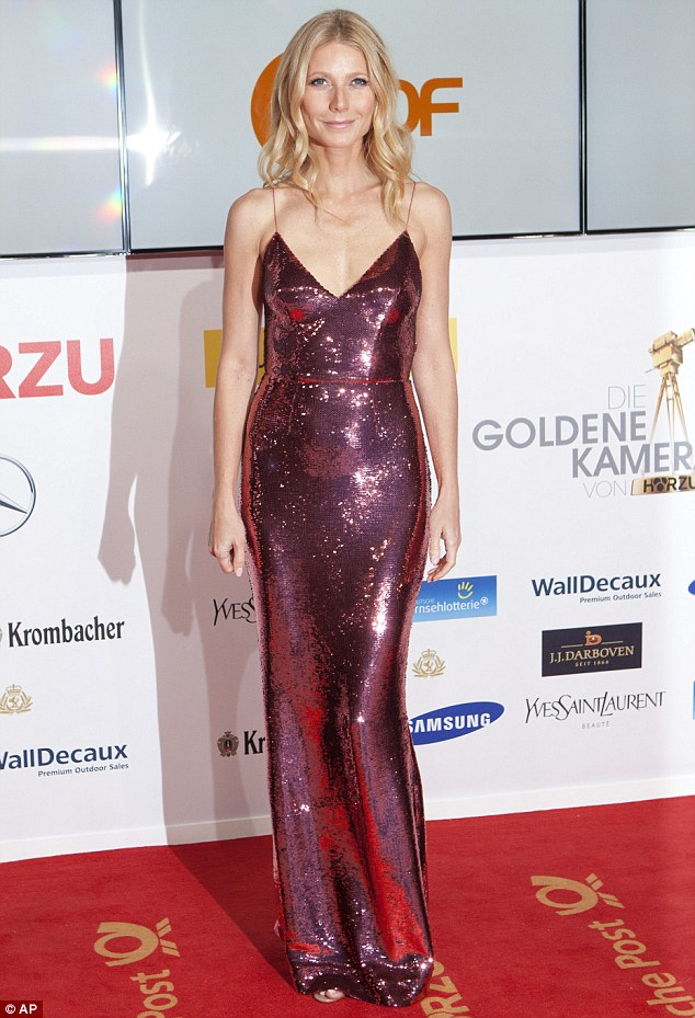 Stunning: Gwyneth Paltrow looked incredible at the Goldene Kamera awards on Saturday evening in Berlin, Germany