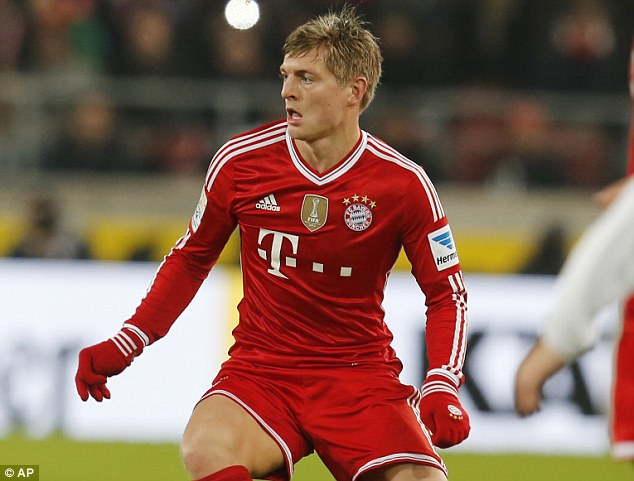 Wanted: Manchester rivals United and City are set to go head-to-head for Bayern midfield star Toni Kroos