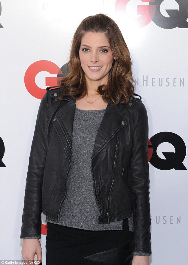 Twilight: Ashley Greene went for a leather look as well at the GQ party