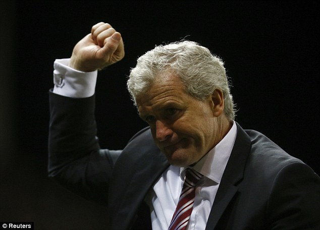 Valuable: The win takes Stoke City up to 12th in the Premier League