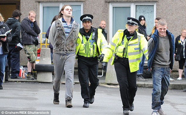 No messing about: Sarah and a colleague make arresting drama - literally and metaphorically