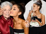 LOS ANGELES, CA - NOVEMBER 22:  (L-R) TV personality Frankie J. Grande, Marjorie 'Nonna' Grande, and recording artist Ariana Grande attend the 2015 American Music Awards at Microsoft Theater on November 22, 2015 in Los Angeles, California.  (Photo by Frazer Harrison/AMA2015/Getty Images for dcp)