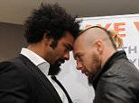 David Haye Press conference with opponent Mark De Mori at the 02 arena.  24/11/15: Picture Kevin Quigley/solo syndication