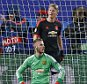 Football - CSKA Moscow v Manchester United - UEFA Champions League Group Stage - Group B - Arena Khimki, Khimki, Moscow, Russia - 21/10/15  Manchester United's David De Gea and Bastian Schweinsteiger look dejected after CSKA Moscow score their first goal  Action Images via Reuters / Andrew Boyers  Livepic  EDITORIAL USE ONLY.