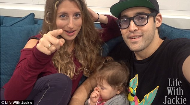 Making plans: When Howie Mandel's oldest daughter Jackie (left) found out that she and her husband Alex (right) were expecting a second child, they decided to turn their announcement into a prank