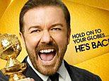 Ricky Gervais Golden Globes Key Art