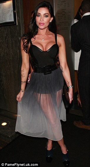 Sheer delight: Jasmine posted a sheer dress for her night out with Luisa