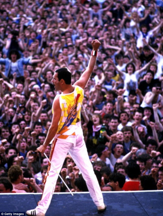 Long live Queen! Freddie Mercury, who died of AIDS 1991, on stage in Ireland in 1986
