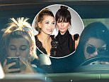November 23, 2015: Hailey Baldwin grabs lunch with Kendall Jenner at Kreation Organic Juicery in Los Angeles, CA.\nMandatory Credit: INFphoto.com Ref: infusla-300