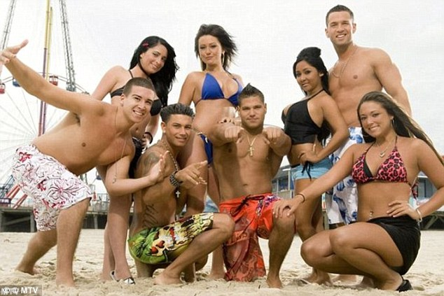 The good ole days: The star with his Jersey Shore cast mates