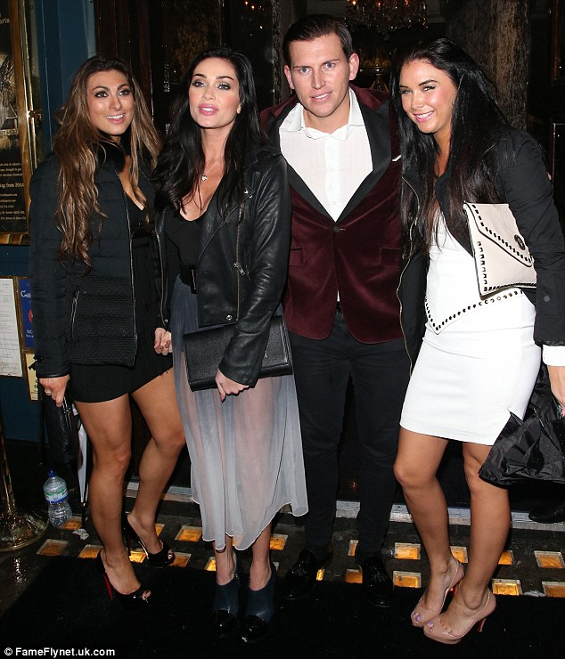 Incoming: Luisa and Jasmine are joined by two friends outside Cafe De Paris