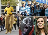 Rugby Union - Australia v Scotland - IRB Rugby World Cup 2015 Quarter Final - Twickenham Stadium, London, England - 18/10/15\n An Australia fan dressed as a kangaroo outside the stadium\n Action Images via Reuters / Henry Browne\n Livepic\n
