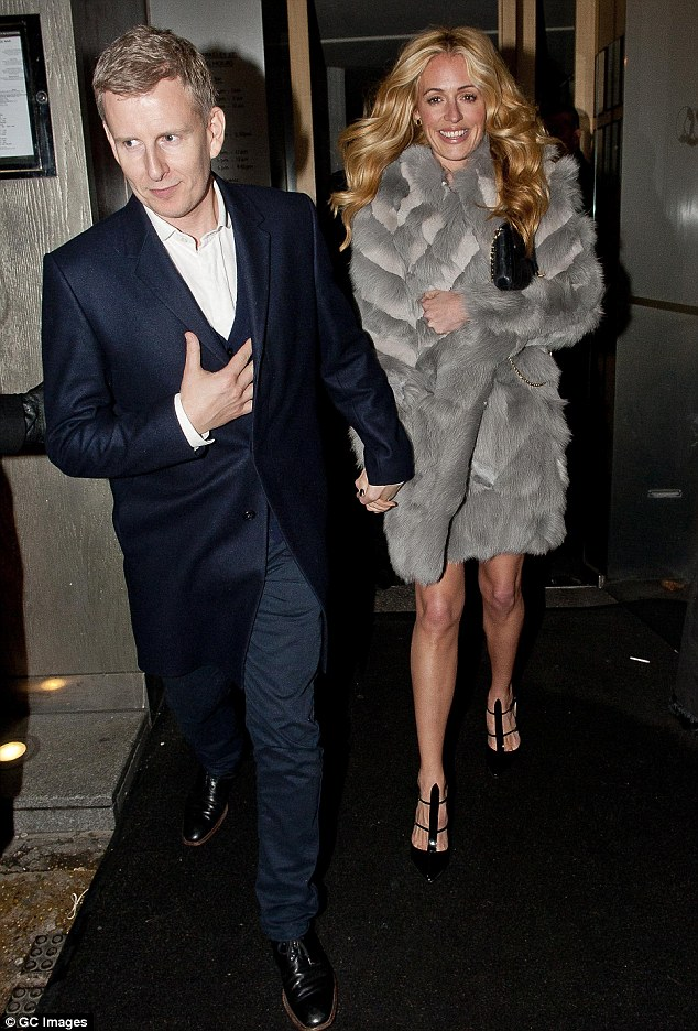 Lovebirds: Cat Deeley and Patrick Kielty enjoy Valentine's Day together in London