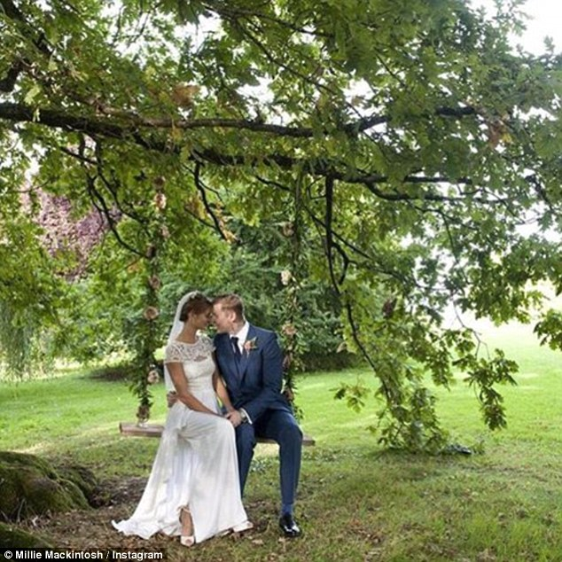 Nearly two years: The rapper, who grew up on a council estate in East London, and Millie - an heiress to the Quality Street confectionery fortune - married in a lavish country ceremony, in Somerset, in September 2013