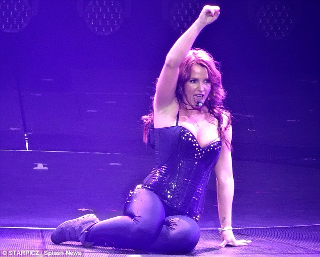 Piece Of Her: Britney continued her successful Vegas show on Friday, as she wowed the crowd at Planet Hollywood