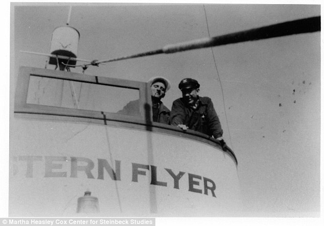 John Steinbeck and Tony Berry, captain of Western Flyer during the Sea of Cortez expedition