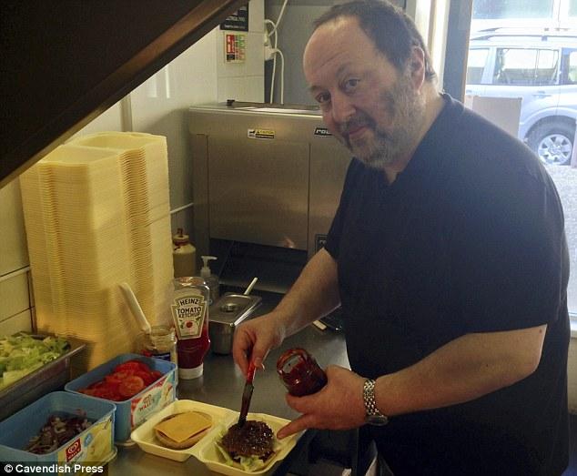 Burger Off: Takeaway boss Nick Gambardella preparing his new super-spicy burger