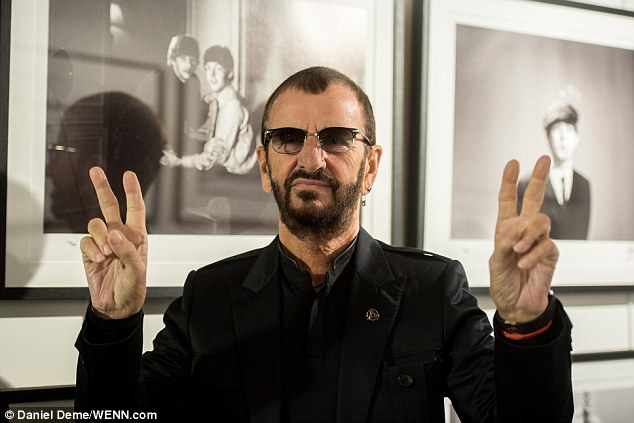 Peace! Ringo Starr, pictured in London at new photo exhibit documenting his life, has revealed The Beatles had a 'good relationship' with the Rolling Stones