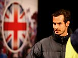 Great Britain's Andy Murray during a press conference at the Flanders Expo Centre, Ghent. PRESS ASSOCIATION Photo. Picture date: Tuesday November 24, 2015. See PA story TENNIS Davis Cup. Photo credit should read: Andrew Milligan/PA Wire. RESTRICTIONS: Editorial Use only, No commercial use without prior permission, Please contact PA Images for further info: Tel: +44 (0) 115 8447447.