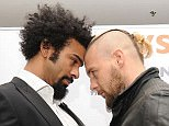 De Mori put his head into Haye's as the face-off turned tense between the two fighters