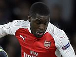 Arsenal's Joel Campbell, right, is challenged by Zagreb's Domagoj Antolic during the Champions League Group F soccer match between Arsenal and Dinamo Zagreb, at The Emirates Stadium in London, Britain, Tuesday, Nov. 24, 2015. (AP Photo/Tim Ireland)