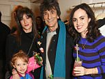 LONDON, ENGLAND - NOVEMBER 25:  (L to R) Leah Wood, Ronnie Wood and Sally Wood attend the Stella McCartney Christmas Lights switch on at the Stella McCartney Bruton Street Store on November 25, 2015 in London, England.   Pic Credit: Dave Benett