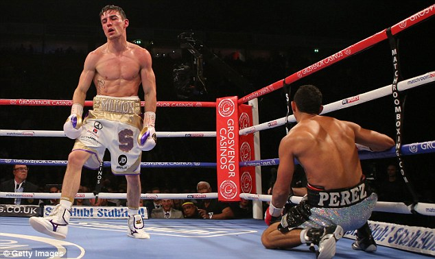Crolla floored Perez with a stunning left to the body of his Colombian opponent in the fifth round