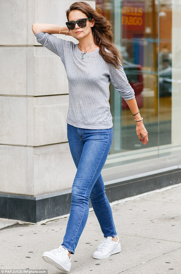 Out and about: Katie Holmes was spotted enjoying a stroll in New York City on Tuesday