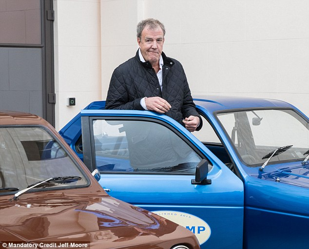 Back to work! Former Top Gear host Jeremy Clarkson was spotted filming new Amazon Prime motoring show in London on Thursday
