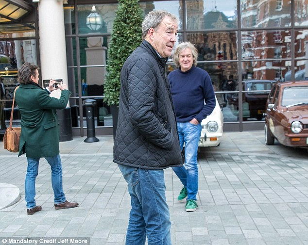 Reunited: The trio proved their bond was unbreakable when Hammond and May jumped ship from the BBC after Jeremy was fired in March