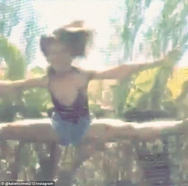 Acrobatics: She showcased her prowess on a trampoline by performing air splits